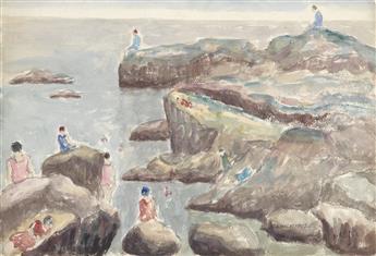ABRAHAM WALKOWITZ Bathers on the Rocks.
