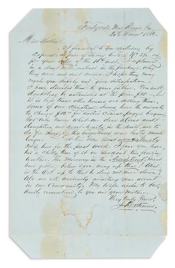 (CIVIL WAR--CONFEDERATE.) Stevens, J.R. A civilian letter expressing anti-Semitism toward the local shopkeepers.