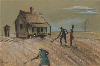 HENRY W. BANNARN (1910 - 1965) Sharecroppers.