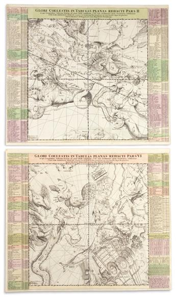 (CELESTIAL.) Homann, Johann Baptiste. Globi Coelestis in Tabulas Planas Redacti Pars II. *