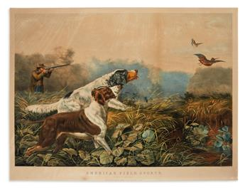 CURRIER & IVES. American Field Sports. A Chance for Both Barrels.