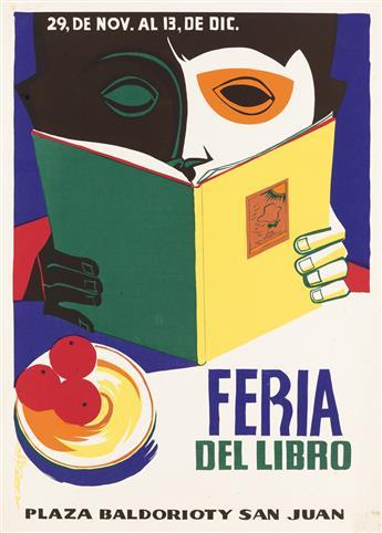 RAFAEL TUFIÑO (1922-2008). FERIA DEL LIBRO. 26x19 inches, 68x48 cm.
