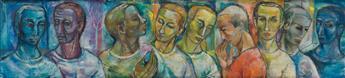 FREDERICK D. JONES (1914 - 2004) Untitled (Heads).