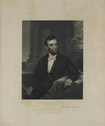 (PRINTS--SECOND TERM.) Sartain, John, artist; after E.D. Marchant. Abraham Lincoln, 16th President of the United States,