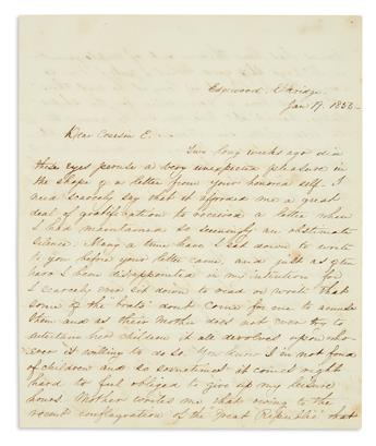 (SLAVERY AND ABOLITION.) Letter describing the resistance of a Maryland house slave.