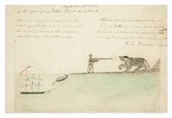 (NEW YORK--LONG ISLAND.) Group of Sag Harbor and Southampton items, including a charming illustrated juvenile poem.
