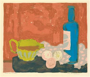 ROBERT BLACKBURN (1920 - 2003) Blue Wine Bottle.