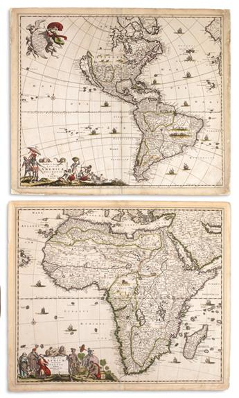 (CONTINENTS.) de Wit, Frederick. Nova et Accurata Totius Europae Descriptio. * Accuratissima Totius Asiae Tabula. *