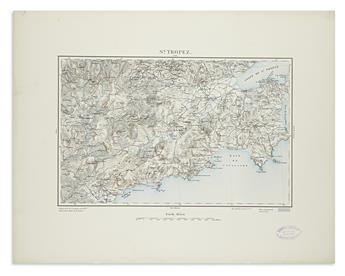 (FRENCH ALPS.) Dépôt de la Guerre. Karten des Alpenassius vom Franzos Generalstabe.