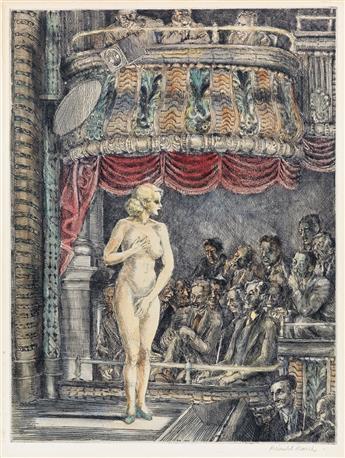 REGINALD MARSH Striptease at New Gotham.