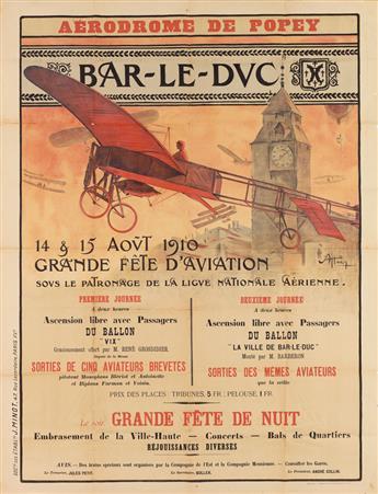 A. HAËG (DATES UNKNOWN). AÉRODROME DE POPEY / BAR - LE - DUC. 1910. 51x39 inches, 129x99 cm. J. Minot, Paris.
