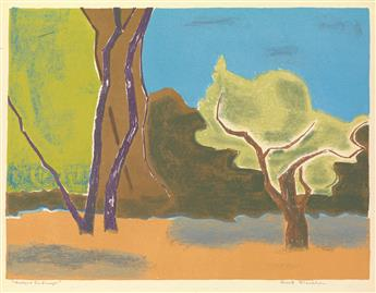 ROBERT BLACKBURN (1920 - 2003) Westport Landscape.