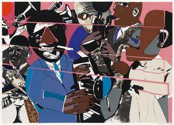 ROMARE BEARDEN (1911 - 1988) Jazz II.