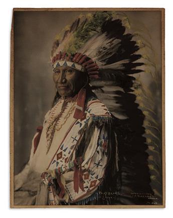 (AMERICAN INDIANS--PHOTOGRAPHS.) Rinehart, Frank A. Rocky Bear, Sioux.