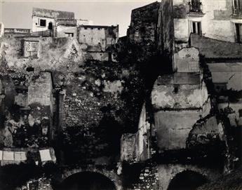 STRAND, PAUL (1890-1976) Bombed Area, Gaeta, Italy.