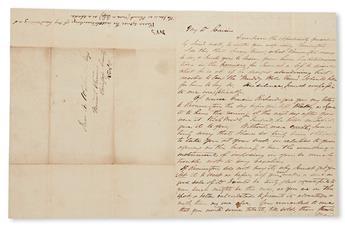 (SLAVERY AND ABOLITION--MOUNT VERNON.) [WASHINGTON, JOHN AUGUSTUS.] My Dear Cousin.