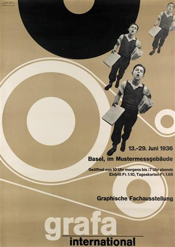 HERMANN EIDENBENZ (1902-1993). GRAFA INTERNATIONAL. 1936. 50x35 inches, 127x90 cm. Wassermann, Basel.