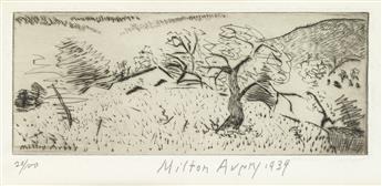 MILTON AVERY Japanese Landscape.