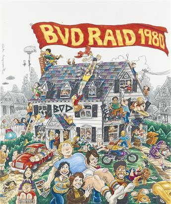 (ADVERTISING.) RICK MEYEROWITZ. BVD Raid 1980.