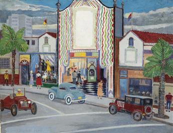 PALMER HAYDEN (1890 - 1973) The Theater.