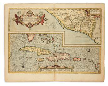 ORTELIUS, ABRAHAM. Hispaniolae, Cubae, [etc.] / Culiancanae, Americae Regionis.