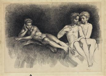 GASTON GOOR (1902-1977)  Three Nudes.