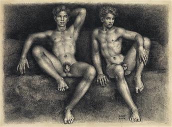 GASTON GOOR (1902-1977)  Two Nudes.