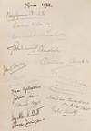 CHURCHILL, WINSTON. Autograph album containing over 300 signatures, the guest book from Blenheim Palace,