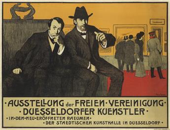 MAX STERN (1872-1943). AUSSTELLUNG DER FREIEN VEREINIGUNG DUESSELDORFER KÜENSTLER. Circa 1910. 26x34 inches, 66x87 cm. A. Bagel, Düssel