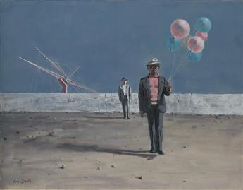 HUGHIE LEE-SMITH (1915 - 1999) Man with Balloons.