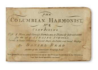 (MUSIC.) Read, Daniel. Columbian Harmonist, No. 2.