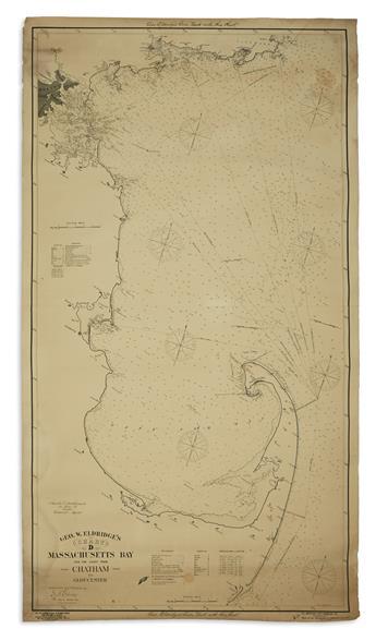 ELDRIDGE, GEORGE. Group of three large lithographed coastal charts.