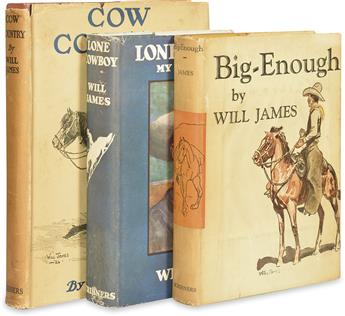(CHILDRENS LITERATURE.) JAMES, WILL. Group of 3 First Editions.