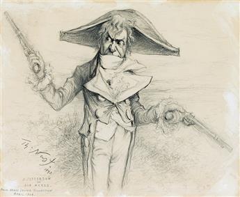 THEATER THOMAS NAST. Joseph Jefferson as Bob Acres in 'The Rivals.'