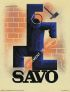 ADOLPHE MOURON CASSANDRE (1901-1968) SAVO. 1930. 15x11 inches. L. Danel, Lille.
