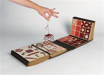(DESIGN.) FRÖBEL, WILHELM A. (after) / PEDAGOGICAL ART. Classroom workbook for Fröbels System of Gifts.