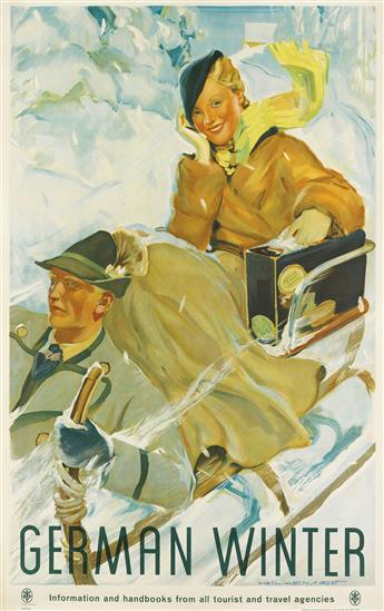 KURT HEILIGENSTADT (1890-1964). GERMAN WINTER. 39x25 inches, 101x63 cm. RDV, Berlin.