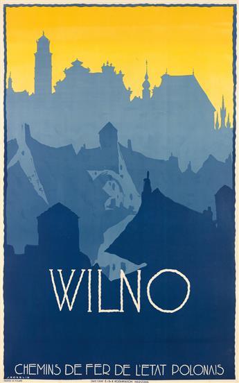 STEFAN NORBLIN (1892-1952). WILNO. Circa 1930. 39 x24 inches, 99 x62 cm. K. Kozianskich, Warsaw.
