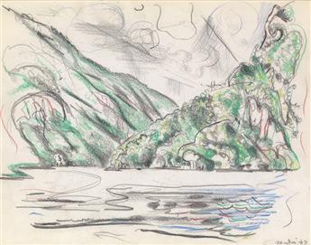 JOHN MARIN A Mountain Lake.