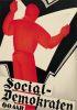 SVEN HENRICKSEN (1890-1935) SOCIAL DEMOKRATEN. 1934. 34x24 inches. J. R. Jensens Trykkerier.