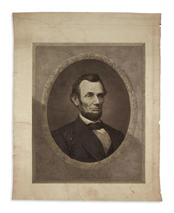 (PRINTS--MEMORIAL.) [Gugler, Henry, engraver; after Littlefield.] Lincoln.