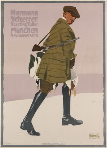 LUDWIG HOHLWEIN (1874-1949). HERMANN SCHERRER. 1907. 48x35 inches, 122x89 cm. Vereinigte Druckereien & Kunstanstalten, Munich.