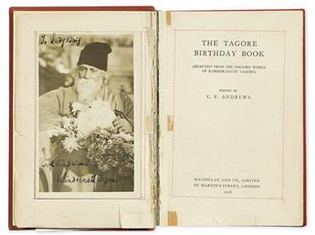 (ALBUM--SOUTH ASIA.) The Tagore Birthday Book. Ed. C.F. Andrews. Signed, or Signed and Inscribed, by over 80 mostly South Asian or Brit