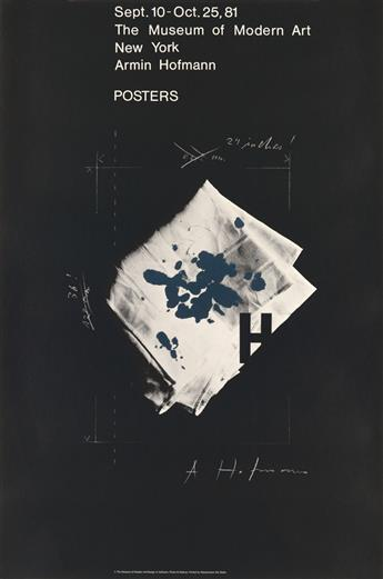 ARMIN HOFMANN (1920- ). POSTERS / THE MUSEUM OF MODERN ART. 1981. 35x24 inches, 90x61 cm. Wasserman, Basel.