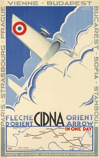 E. POLBOR (DATES UNKNOWN). CIDNA / ORIENT ARROW. 1930. 39x24 inches, 99x61 cm. Editions Polbor.