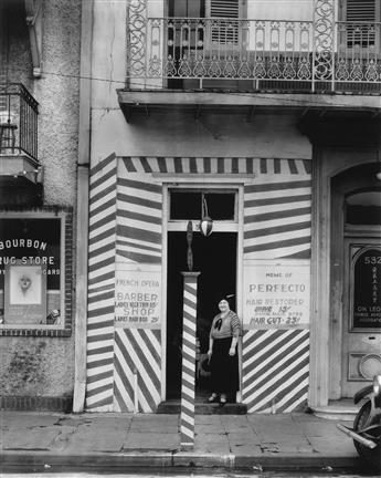 WALKER EVANS (1903-1975) Barber Shop, New Orleans.