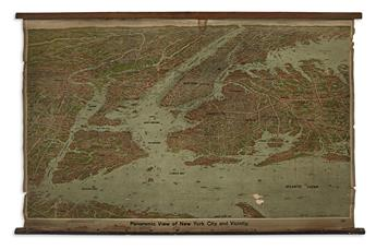 (NEW YORK CITY.) Ruppert, Jacob. Panoramic View of New York City and Vicinity.