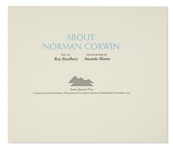 BRADBURY, RAY. About Norman Corwin.