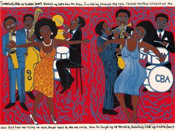 FAITH RINGGOLD (1930 -  ) Somebody Stole My Broken Heart.
