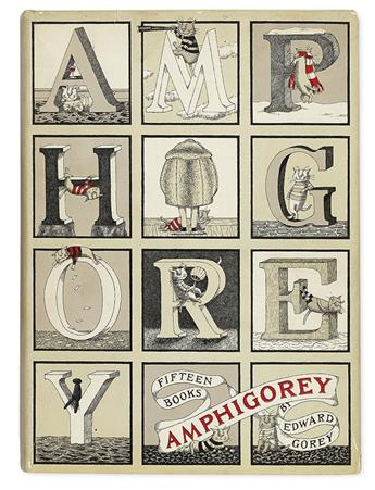 GOREY, EDWARD. Amphigorey * Amphiogory Too * Amphigorey Also.